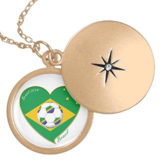 Flagge von BRASILIEN weltweiter FUSSBALL und Natio Medaillons