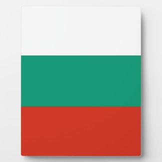 Flagge von Bulgarien Fotoplatte