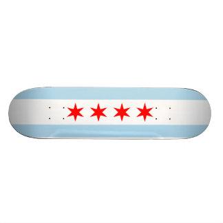 Flagge von Chicago-Skateboard Personalisiertes Skateboarddeck