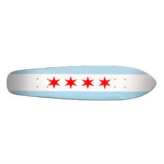 Flagge von Chicago 20,1 Cm Skateboard Deck