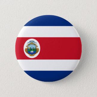Flagge von Costa Rica auf Button-/Knopf-Abzeichen Runder Button 5,7 Cm