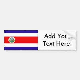 Flagge von Costa Rica Autoaufkleber
