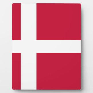 Flagge von Dänemark Fotoplatte