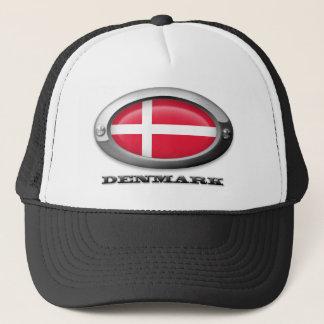 Flagge von Dänemark im Stahlrahmen Truckerkappe