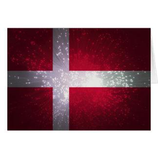 Flagge von Dänemark Karten