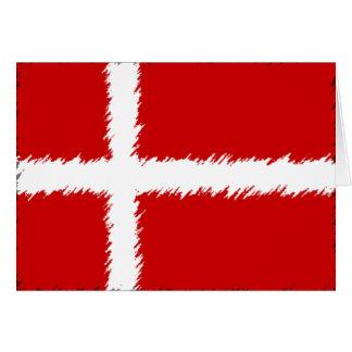 Flagge von Dänemark Karte