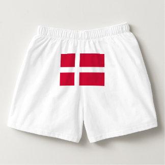 Flagge von Dänemark oder von dänischem Stoff Herren-Boxershorts