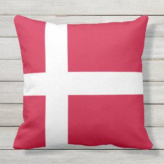 Flagge von Dänemark oder von dänischem Stoff Kissen