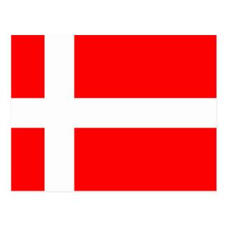 Flagge von Dänemark Postkarte