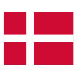 Flagge von Dänemark-Postkarte Postkarte