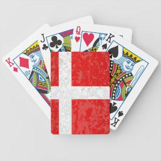 Flagge von Dänemark-Schmutz Bicycle Spielkarten