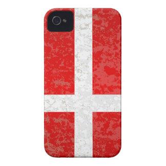 Flagge von Dänemark-Schmutz iPhone 4 Cover