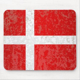 Flagge von Dänemark-Schmutz Mousepads