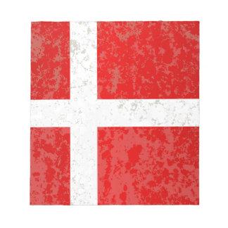 Flagge von Dänemark-Schmutz Notizblock