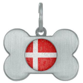 Flagge von Dänemark-Schmutz Tiermarke