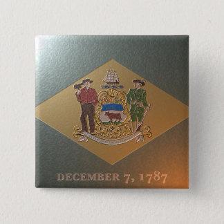 Flagge von Delaware Quadratischer Button 5,1 Cm