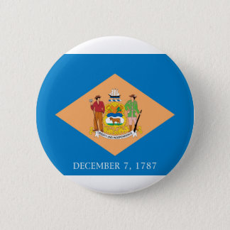 Flagge von Delaware Runder Button 5,7 Cm