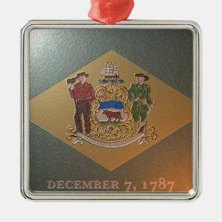 Flagge von Delaware Silbernes Ornament