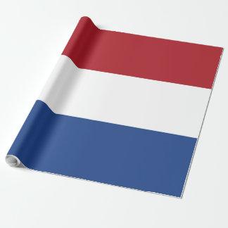 Flagge von den Niederlanden Geschenkpapier