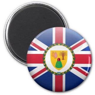 Flagge von den Turks- und Caicosinseln Runder Magnet 5,7 Cm