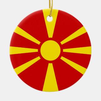 Flagge von der Republik Mazedonien Keramik Ornament