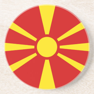 Flagge von der Republik Mazedonien Sandstein Untersetzer