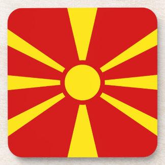 Flagge von der Republik Mazedonien Untersetzer