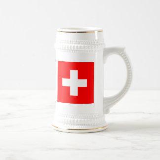Flagge von der Schweiz Bierglas