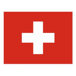 Flagge von der Schweiz die Nationalflagge der Postkarte