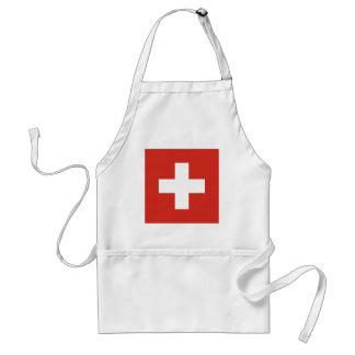 Flagge von der Schweiz - die Nationalflagge der Schürze