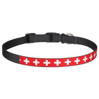 Flagge von der Schweiz Haustierhalsband