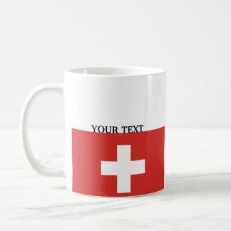 Flagge von der Schweiz Kaffeetasse