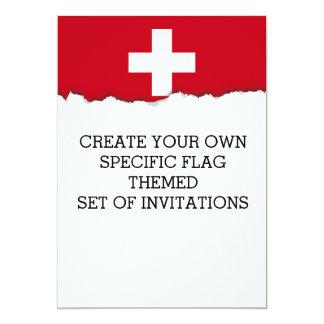 Flagge von der Schweiz Karte