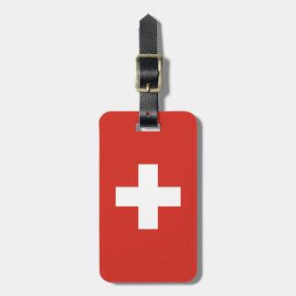 Flagge von der Schweiz Kofferanhänger