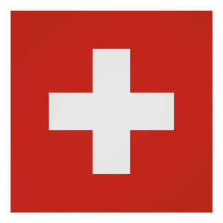 schweiz flagge poster. Black Bedroom Furniture Sets. Home Design Ideas