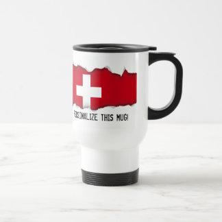 Flagge von der Schweiz Reisebecher