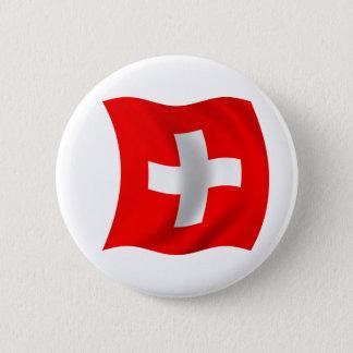 Flagge von der Schweiz Runder Button 5,7 Cm