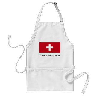 Flagge von der Schweiz Schürze