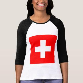 Flagge von der Schweiz T-Shirt