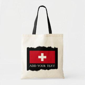 Flagge von der Schweiz Tragetasche