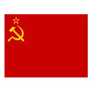 Flagge von der Sowjetunion Postkarte