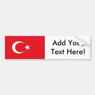 Flagge von der Türkei Autoaufkleber