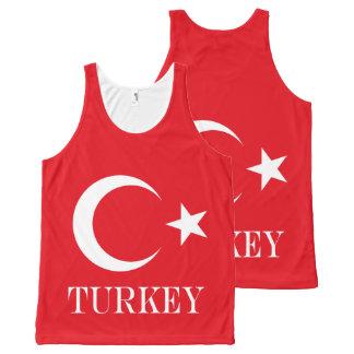 Flagge von der Türkei Komplett Bedrucktes Tanktop