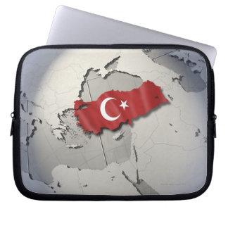 Flagge von der Türkei Laptop Sleeve Schutzhüllen