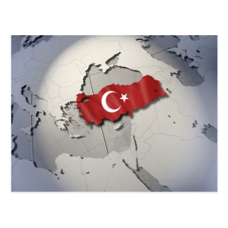 Flagge von der Türkei Postkarte