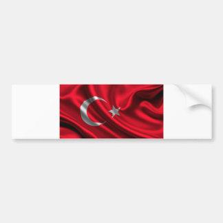 Flagge von der Türkei, türkische Flagge Autoaufkleber