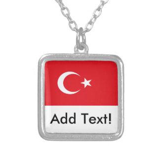 Flagge von der Türkei Versilberte Kette