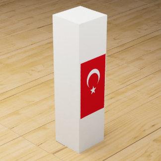 Flagge von der Türkei Wein-Geschenkverpackung