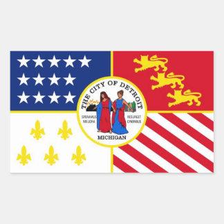 Flagge von Detroit Rechteckiger Aufkleber