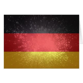 Flagge von Deutschland Grußkarten